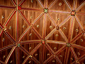 Wagon roof, All Saints Church - Winkleigh