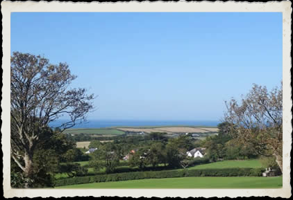 View over Poughll to Bude bay