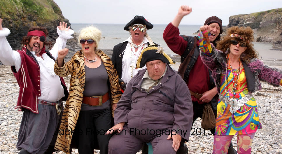 PIRATEERS ON THE WAY TO RIO -  BERT LARGE AND ABSOLUTELY FABULOUS PATSY AND EDDIE