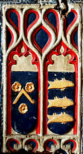 Painted carved reliefs from Rood screen.