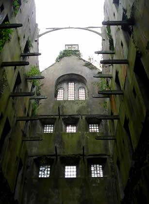 Derelict Naval Prison block, Bodmin Jail.