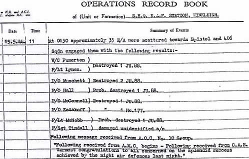 Operations record book winkleigh