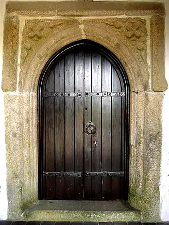 15th Century Porch Doorway  Church of St Breward Cornwall.