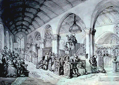 Thomas Rowlandson Pen & Ink Drawing St Breward Church.