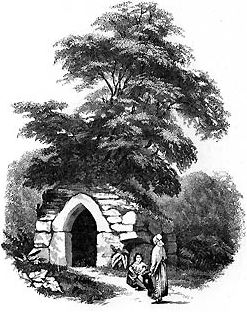 Engraving Holy well St Breward.