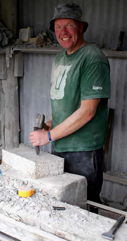 Steve Kay a traditional stonemason.