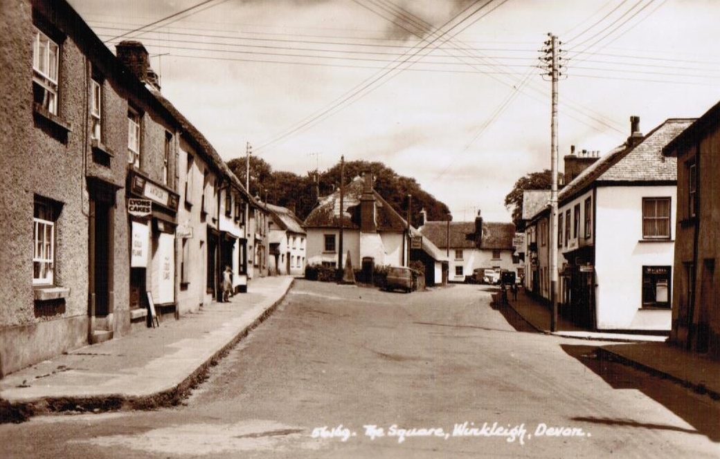 Vintage image of the Square Winkleigh Devon